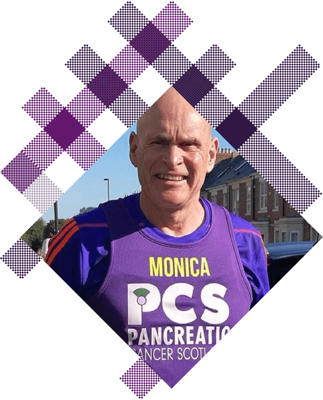 One of our Pan Can Clan members Running in a marathon