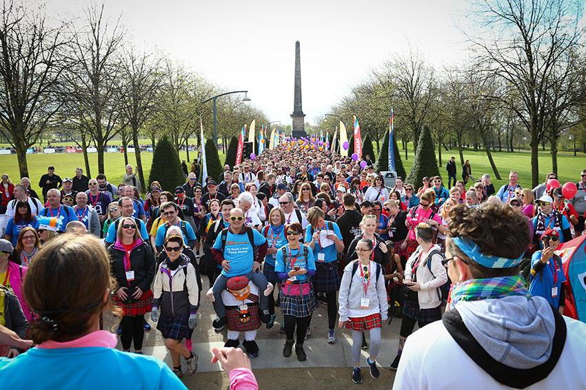 Kiltwalk in Glasgow