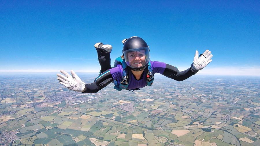 One of our PCS Members doing a charity skydive